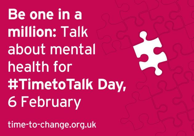 #TimetoTalkDay 6 February 2014