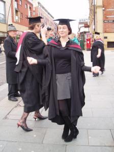 Me graduating, amidst an ocean of booze.